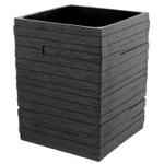 Square Black Waste Can