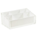 Make-up Tray Made of Thermoplastic Resins in White Finish
