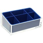 Make-up Tray Made of Thermoplastic Resins in Blue Finish