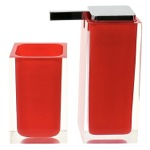 Red Two Pc. Accessory Set Made With Thermoplastic Resins