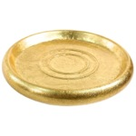 Soap Dish, Gedy SO11, Gold or Silver Round Soap Dish in Pottery