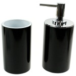 Fashionable 2 Piece Black Bathroom Accessory Set