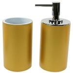 Bathroom Accessory 2 Piece Set in Gold Finish