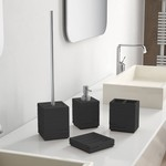 Quadrotto Black Bathroom Accessory Set