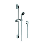 Sliding Rail Hand Shower Set, Gedy SUP1042, Polished Chrome Shower System with Hand Shower and Sliding Rail and Water Connection