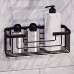 Matte Black Shower Basket