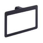 Modern Square Matte Black Towel Ring