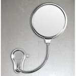 Makeup Mirror, Gedy HO08-13, 2 Faced Shatterproof Polished Steel Bathroom Mirror