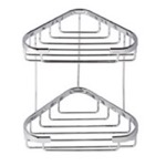 Chrome 2 Tier Double Shower Basket