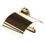 Wall Mounted Gold Brass Toilet Paper Holder