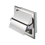 Recessed Stainless Steel Toilet Roll Holder