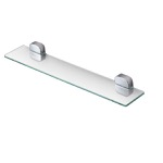 Rectangle Wall Mounted Chrome Bathroom Shelf