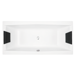 White Rectangular Drop In Bathtub