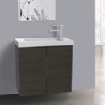 Bathroom Vanity, Iotti HD01C, 2 Doors Vanity Cabinet with Self Rimming Sink