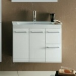 Bathroom Vanity, Iotti LE3C, 30 Inch Vanity Cabinet with Self Rimming Sink