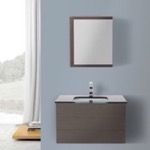 32 Inch Wenge Bathroom Vanity With Black Gl Top Wall Mounted Medicine Cabinet Included