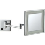 Makeup Mirror, Nameeks AR7701-CR-5x, Square Wall Mounted LED 5x Magnifying Mirror, Hardwired