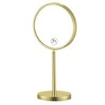 Makeup Mirror, Nameeks AR7716-O-3x, Gold Finish Double Sided Free Standing 3x Makeup Mirror