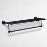 24 Inch Matte Black Towel Rack