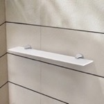 Bathroom Shelf, Nameeks NNBL0051, 24 Inch Frosted Glass Shelf With Chrome Mounting