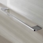 Rectangular 18 Inch Towel Bar in Chrome Finish