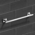18 Inch Modern Chrome Towel Bar