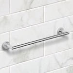 19 Inch Polished Chrome Towel Bar