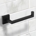 Toilet Paper Holder, Nameeks NNBL0055, Square Wall Mounted Toilet Paper Holder in Black Finish