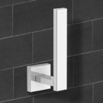 Modern Square Chrome Vertical Toilet Paper Holder