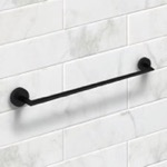 24 Inch Matte Black Towel Bar