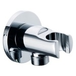 Hand Held Shower Bracket, Remer 337M, Shower Bracket With Water Outlet