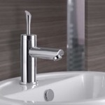 Single-Lever Sink Faucet Without Pop-Up Waste