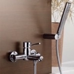 Tub Filler, Remer N02, Wall Mount Tub Faucet with Hand Shower