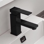Matte Black Single Lever Bathroom Sink Faucet