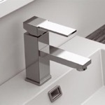 Single Lever Bathroom Sink Faucet in 2 Finishes