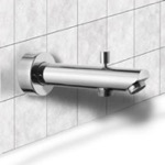 Tub Spout, Remer 91MD, Round Tub Spout with Diverter