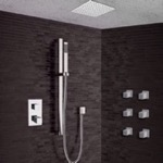 Shower Faucet, Remer CS012, Chrome Thermostatic Shower System with 13