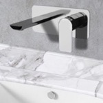 Chrome Wall Mounted Bathroom Faucet
