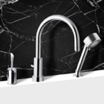 Tub Filler, Remer J48319MO, Roman Tub Faucet with Hand Shower