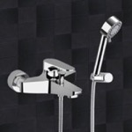 Bath Shower Mixer With Hand Shower and Shower Bracket