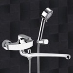 Basin and Bath Single Lever Mixer With Hand Shower and Bracket