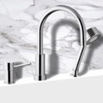 Tub Filler, Remer N48319MO, Roman Bathtub Faucet with Hand Shower