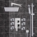 Shower Faucet, Remer S4, Chrome Shower System with 10