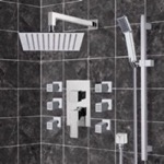 Shower Faucet, Remer S7, Chrome Shower System with 10