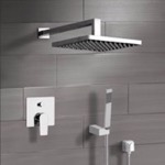 Shower Faucet, Remer SFH22, Chrome Shower System with 8