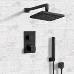 Shower Faucet, Remer SFH33, Matte Black Thermostatic Shower System with 8
