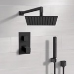 Shower Faucet, Remer SFH37, Matte Black Thermostatic Shower Set with Rain Shower Head and Hand Shower