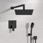 Shower Faucet, Remer SFH55, Matte Black Shower Set With Rain Shower Head and Hand Shower