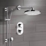 Shower Faucet, Remer SFR22, Chrome Thermostatic Shower System with 8