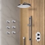 Shower Faucet, Remer SFR23, Chrome Shower System with 8